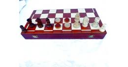 Schaak- en backgammonspel